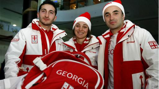 Грузинская команда на сочинской Олимпиаде