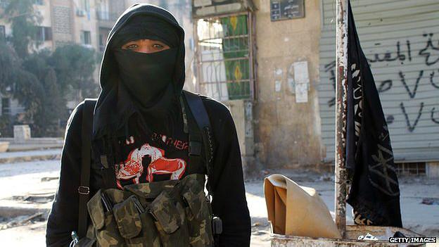 Yihadista del frente al Nusra en Alepo