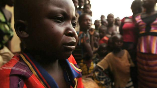 Niño desplazado en la República Centroafricana