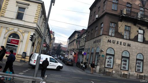 Перекресток в Сараево, где был убит эрцгерцог Фердинанд