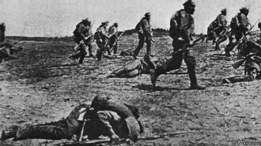 Наступление русских войск в Первой мировой