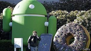 Símbolo de Android en Silicon Valley