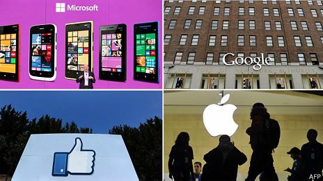Collage de empresas tecnológicas