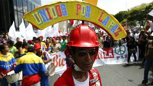 Marcha a favor del gobierno en Caracas