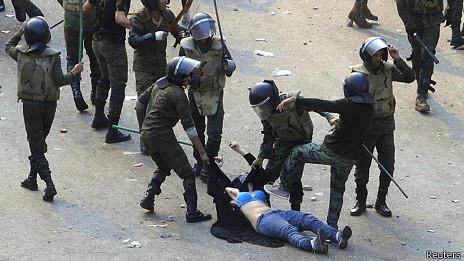 Imagen de una protesta en Egipto