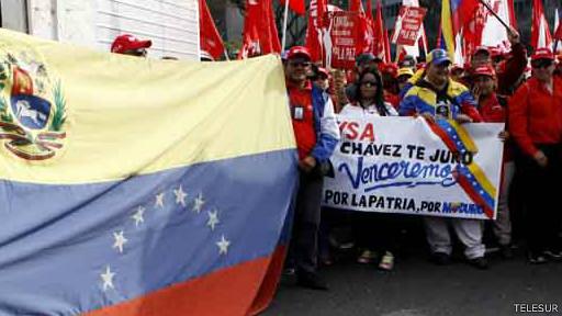 Marcha oficialista en Venezuela