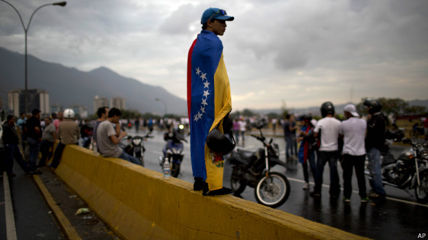 Manifestante venezuelano (AP)
