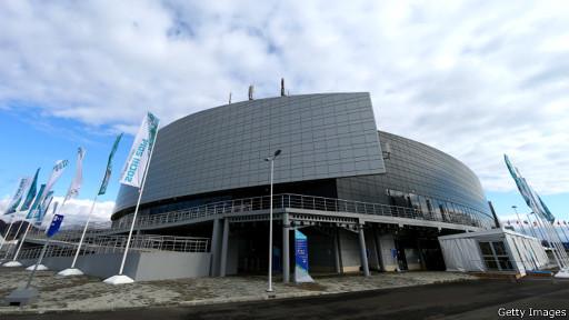 """Керлинговый центр """"Ледяной куб"""" в Олимпийском парке в Сочи"""
