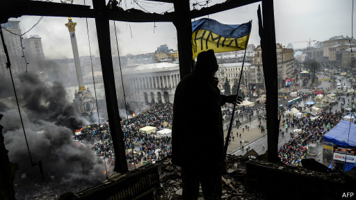 Manifestante ucraniano (AFP)