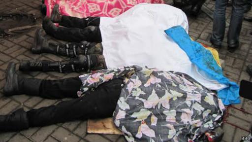 Corpos em Kiev (BBC)