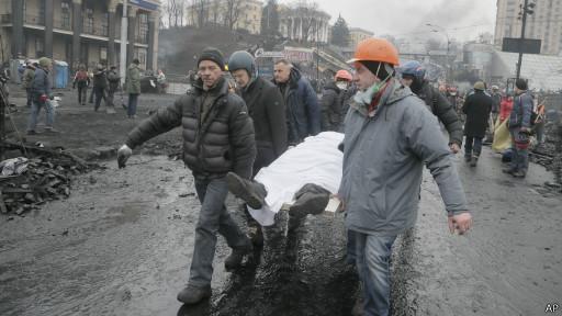 Feridos em Kiev (AP)
