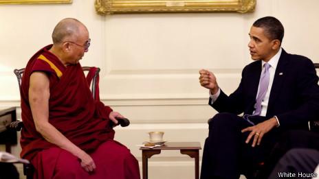 奧巴馬2010年2月18日在白宮會晤達賴喇嘛