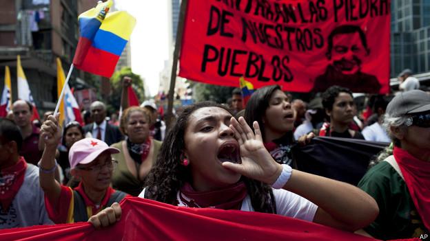 Protesta chavista