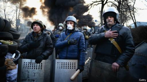 Защитники майдана 21 февраля прощались с погибшими