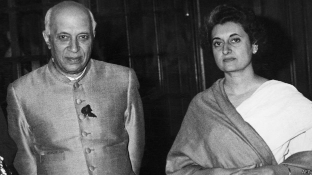 पंडित नेहरू और इंदिरा गाँधी