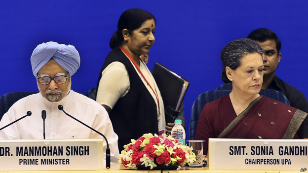 सुषमा स्वराज, मनमोहन सिंह, सोनिया गाँधी