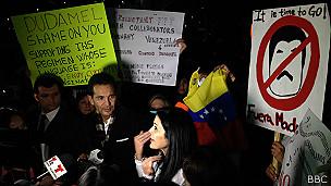 Protesta contra Dudamel