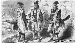 Tres guerreros samurái