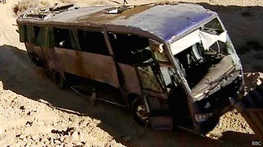 Автобус после падения