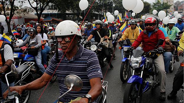 Motorizados en Caracas