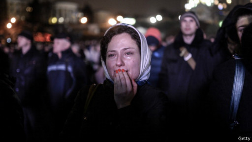 Женщина на Майдане