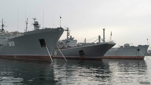 Российские корабли на базе в Севастополе