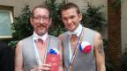 Os russos Alexander Eremeev e Dimitri Zaitser mudaram-se para Buenos Aires para casar (Jose Maria di Bello)