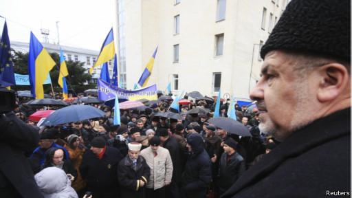 Протесты в Симферополе