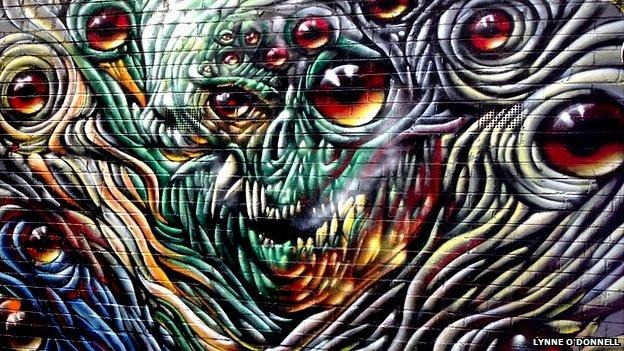 Grafiti en Croft Alley