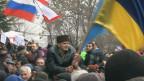 Manifestantes en Crimea