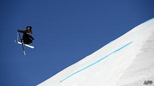 Esquiador en los Juegos Olímpicos de Sochi