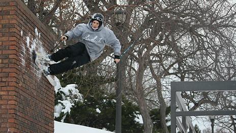 Esquiador urbano