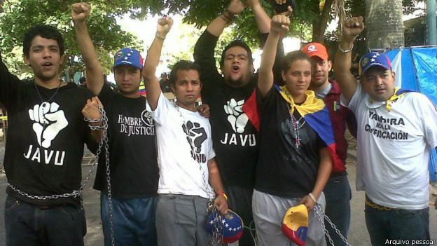 Integrantes de movimento de jovens direitistas (foto: arquivo pessoal)