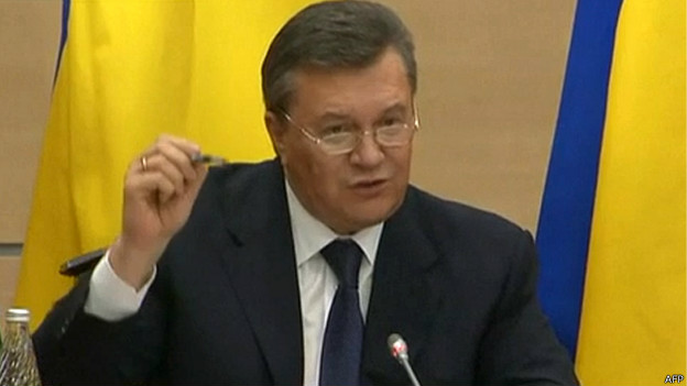 Presidente afastado da Ucrânia reaparece e promete lutar pelo país