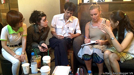 Cuộc cà phê nhân quyền ở Sài Gòn