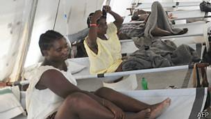 Foto de archivo de pacientes de cólera
