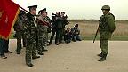 Soldados rusos frente a soldados ucranianos