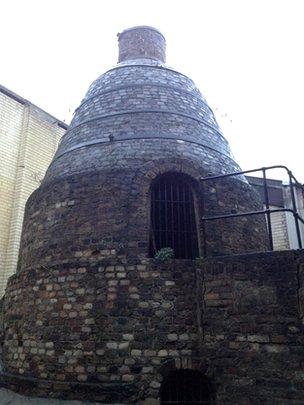 Horno donde se fabricó el primer cemento Portland