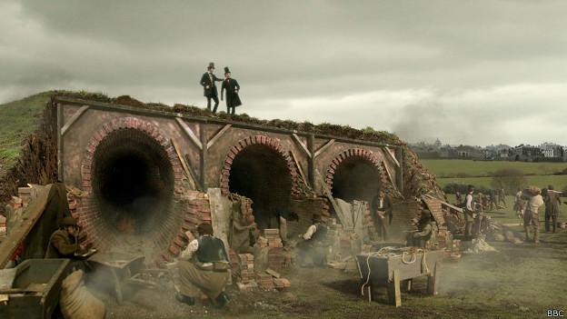 A Bazalgette le encargaron construir las alcantarillas y para ello era ideal el cemento Portland.