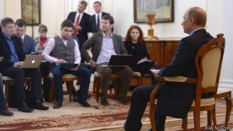 Встреча Владимира Путина с журналистами в Ново-Огареов 4 марта 2014 года, посвященная ситуации на Украине