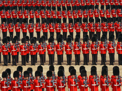 The Welsh Guards on parade