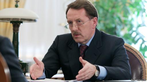 Алексей Гордеев беседует с Путиным