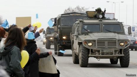 Антивоенная акция в Крыму