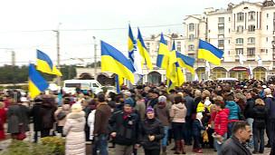 Проукраинские активисты в Севастополе
