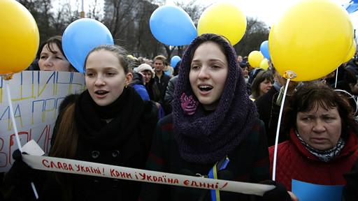 Проукраинский митинг в Симферополе