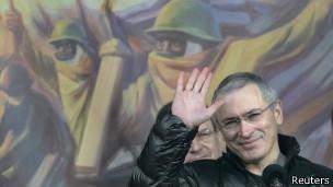 Михаил Ходорковский на Майдане Незалежности