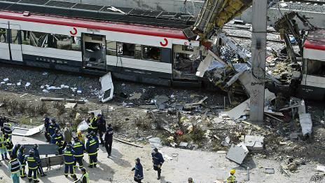 Destroços do trem, (AFP)
