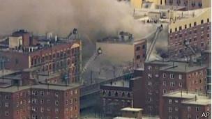 edificio colapsado en Nueva York