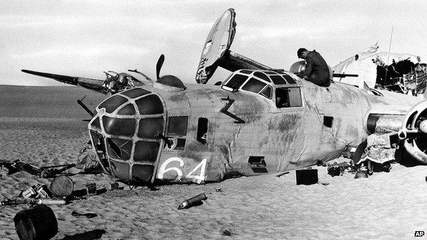 Упавший бомбардировщик