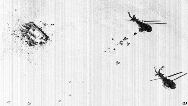 Следы упавшего самолета